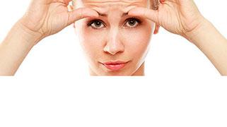 Marca de expressão entre as sobrancelhas